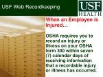 usf web recordkeeping