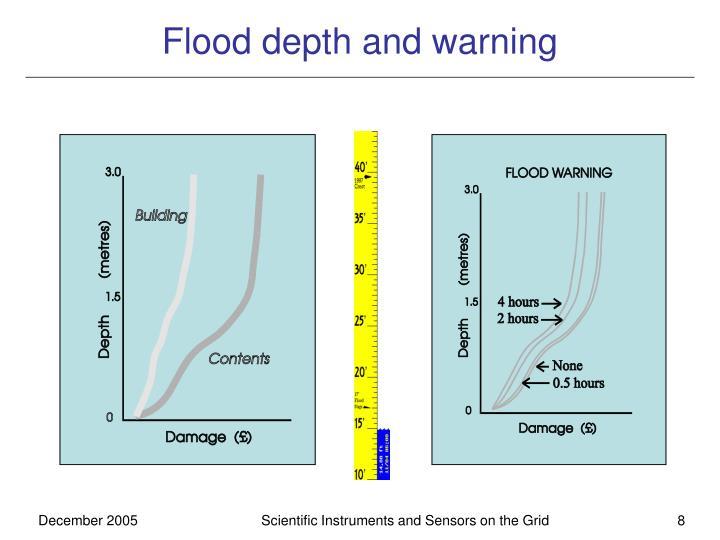 Flood depth and warning