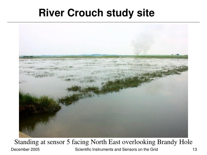 River Crouch study site