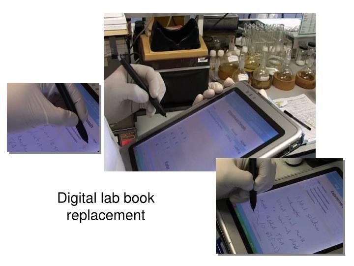Digital lab book replacement