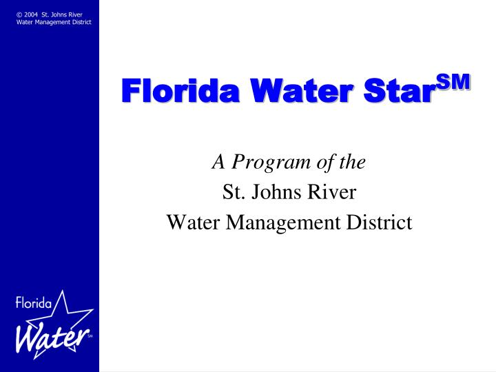 florida water star sm n.