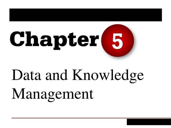 data and knowledge management n.