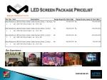 led screen package pricelist