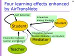 four learning effects enhanced by airtransnote