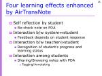 four learning effects enhanced by airtransnote1