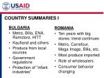 country summaries i