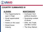 country summaries iii