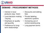 demand procurement methods