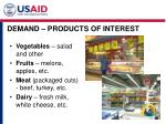 demand products of interest