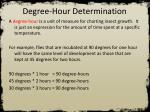 degree hour determination