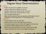 degree hour determination1