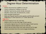 degree hour determination2