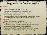degree hour determination3