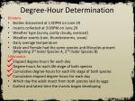 degree hour determination5