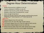 degree hour determination6