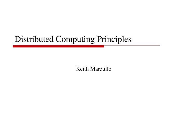 distributed computing principles n.