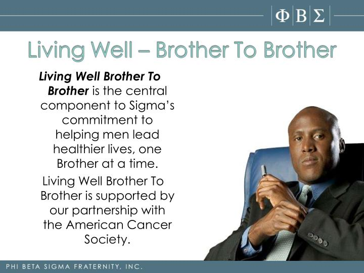 Living Well Brother To Brother