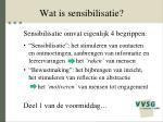 wat is sensibilisatie
