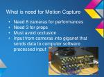 what is need for motion capture