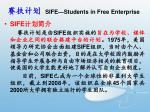 sife students in free enterprise
