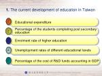 1 the current development of education in taiwan