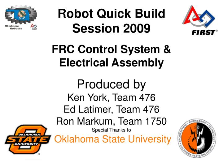 robot quick build session 2009 n.