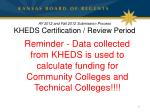 ay 2012 and fall 2012 submission process kheds certification review period2