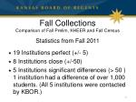 fall collections comparison of fall prelim kheer and fall census