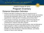 kheds change ay 2012 program inventory