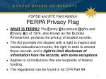 kspsd and bte field addition ferpa privacy flag