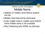 kspsd and bte field addition middle name