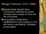 mongol takeover 1271 1368