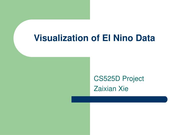 visualization of el nino data n.