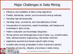 major challenges in data mining