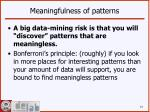 meaningfulness of patterns