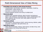 multi dimensional view of data mining