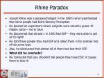 rhine paradox
