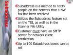 subaddress