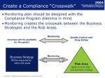 create a compliance crosswalk
