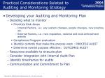 practical considerations related to auditing and monitoring strategy