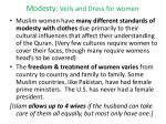 modesty veils and dress for women