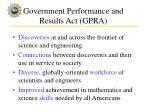government performance and results act gpra