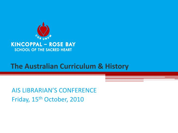 the australian curriculum history n.
