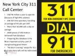 new york city 311 call center