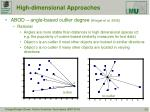 high dimensional approaches2