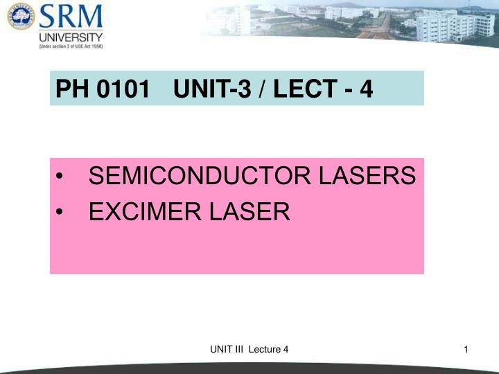semiconductor lasers excimer laser n.