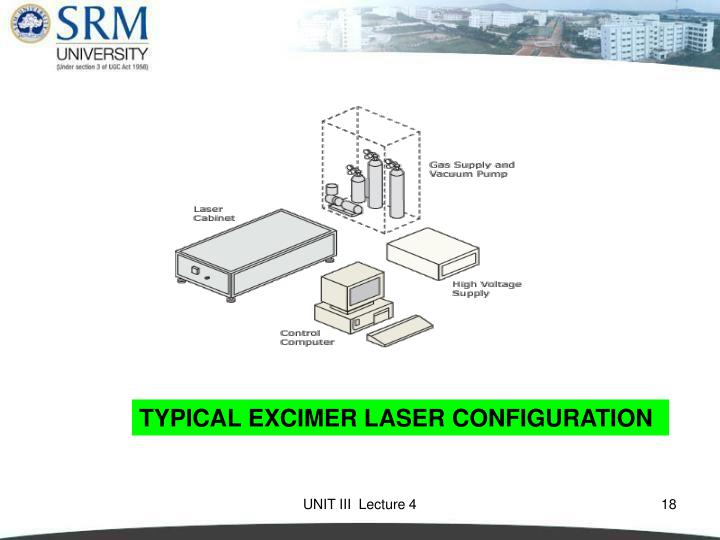 TYPICAL EXCIMER LASER CONFIGURATION