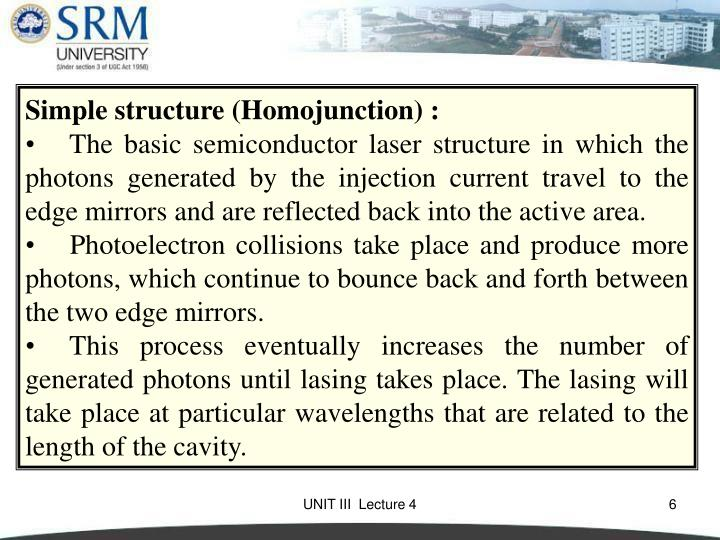 Simple structure (Homojunction) :