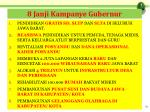 8 janji kampanye gubernur