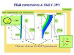 edm constraints susy cpv